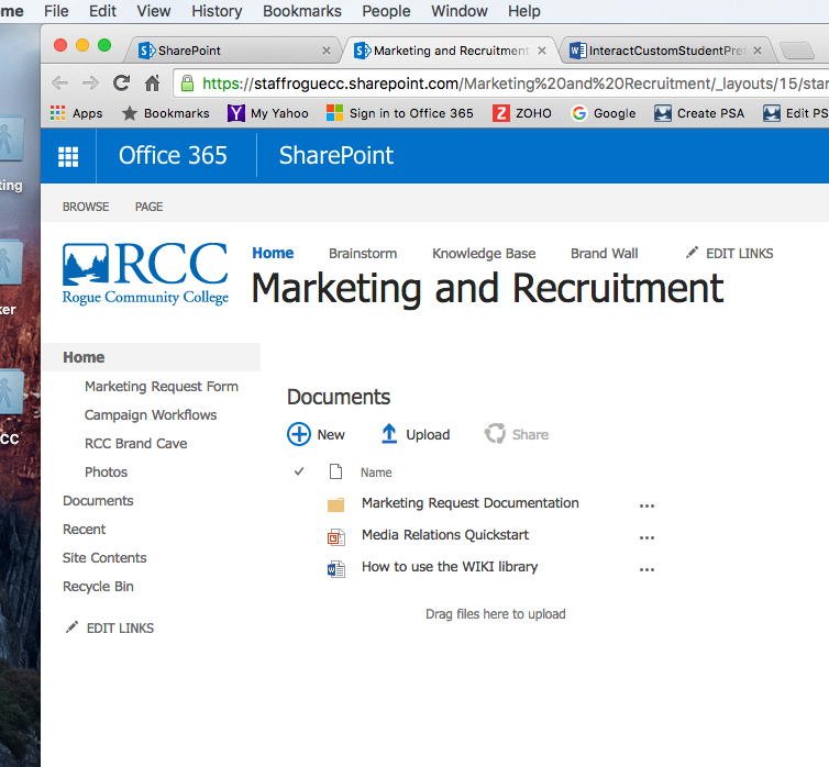 Marketing SharePoint Work Order Instructions – Recruitment Request Form