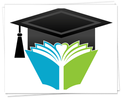 scholarship logo with book