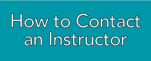 How to contact an Instructor