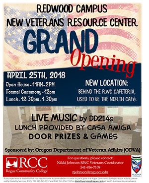 veterans center grand opening rsvp rogue community college. Black Bedroom Furniture Sets. Home Design Ideas