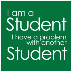 student with a problem with a student